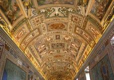 Inre och detaljer av Vaticanenmuseet, Vatican City Arkivfoto
