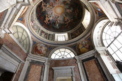 Inre och detaljer av Vaticanenmuseet, Vatican City Royaltyfria Foton