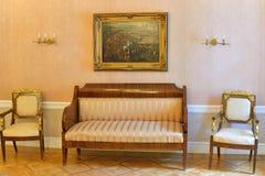 Inre och inre av Hus-museet av Pyotr Abram Royaltyfri Foto