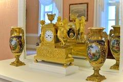 Inre och inre av Hus-museet av Pyotr Abram Arkivbilder