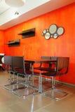 inre orange Fotografering för Bildbyråer