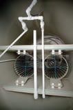 Inre ordning av den biologiska behållaren för avloppsvattenbehandling med förlagebiofilters Arkivbild