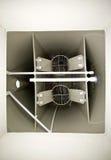 Inre ordning av den biologiska behållaren för kloak för avloppsvattenbehandling Fotografering för Bildbyråer