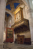 Inre organ av den Lucca domkyrkan Cattedrale di San Martino tuscany italy Royaltyfria Foton