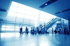 inre passagerarepudong shanghai för flygplats Arkivfoton