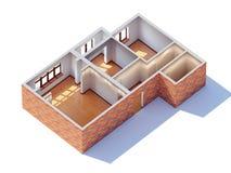 Inre planläggning för hus Vektor Illustrationer