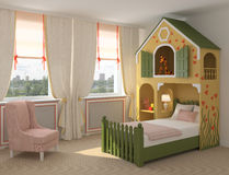 inre playroom stock illustrationer