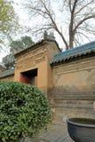 Inre port i den stora moskén för xian huajuegränd, Adobe rgb Arkivbild