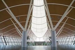 inre pudong shanghai för flygplats Arkivfoton