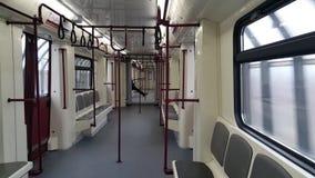 Inre rörande gångtunnelbil stock video