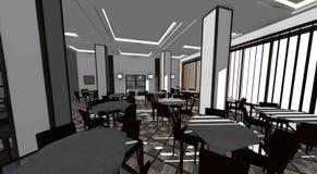 inre restaurang vektor illustrationer