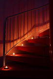 inre romantisk trappa Arkivbilder