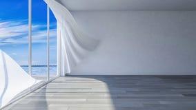 inre rum för sjösida 3ds Royaltyfri Fotografi