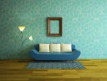 Inre rum med soffan Royaltyfria Bilder