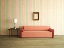 Inre rum med soffan Fotografering för Bildbyråer
