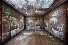 Inre rumetapp för abstrakt stads- metall arkivbilder