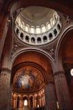 Inre Sacré-Coeur basilika Arkivbild