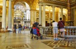 INRE SANTA MARIA MAGGIORE BASILIKA, HISTORISK MITT FÖR ROME ` S, ITALIEN Royaltyfria Bilder