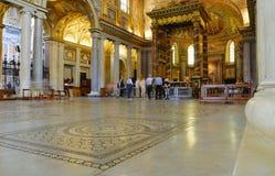 INRE SANTA MARIA MAGGIORE BASILIKA, HISTORISK MITT FÖR ROME ` S, ITALIEN Arkivfoton