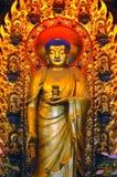 inre shanghai tempel arkivfoto