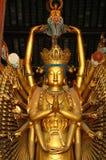 inre shanghai tempel Royaltyfri Bild