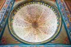 Inre sikt av Artin, Macahel, Camili Camii (moskén) Arkivbild
