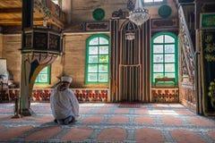 Inre sikt av Artin, Macahel, Camili Camii& x28; mosque& x29; Arkivfoto