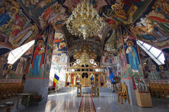 Inre sikt av Christian Church Constantin si Elena Arkivfoto