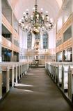Inre sikt av den Bach kyrkan i Arnstadt, Tyskland Arkivbild