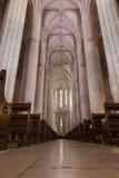 Inre sikt av den Batalha Santa Maria da Vitoria Dominican abbotskloster Royaltyfri Fotografi