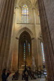 Inre sikt av den Batalha Santa Maria da Vitoria Dominican abbotskloster Fotografering för Bildbyråer