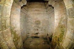 Inre sikt av den Kidal templet Arkivfoto
