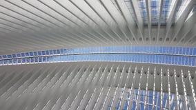 Inre sikt av den nya World Trade Center av New York Royaltyfria Foton