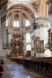Inre sikt av den Salzburg domkyrkan royaltyfri bild