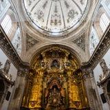 Inre sikt av den Segovia domkyrkan Royaltyfri Foto