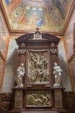 Inre sikt av domkyrkan för St Emmerams, Nitra i Slovakien ST royaltyfria bilder