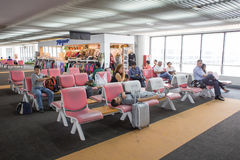 Inre sikt av Don Mueang International Airport Royaltyfria Foton