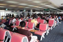 Inre sikt av Don Mueang International Airport Arkivbild