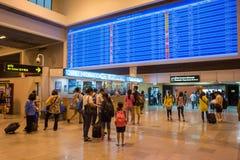 Inre sikt av Don Mueang International Airport Royaltyfri Fotografi