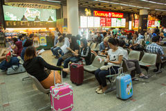 Inre sikt av Don Mueang International Airport Arkivfoto