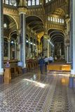 Inre sikt av `en för ngeles för `-basilikaNuestra Señora de los à , arkivbilder