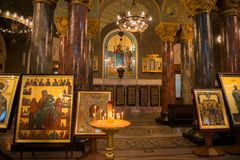 Inre sikt av havet Nicholas Cathedral Royaltyfria Bilder