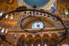 Inre sikt av havet Nicholas Cathedral Royaltyfria Foton