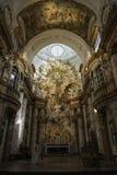 Inre sikt av Karlskirche, Wien Royaltyfri Bild
