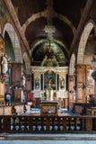 Inre sikt av kyrkan av helgonet-Sulpice i Fougeres fotografering för bildbyråer