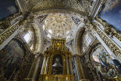 Inre sikt av kyrkan av Santo Domingo Fotografering för Bildbyråer