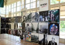 Inre sikt av Memphis Visitor Center, Memphis Tennessee Fotografering för Bildbyråer