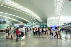 Inre sikt av Noi Bai International Airport Arkivbild