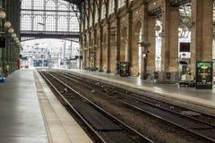 Inre sikt av Paris den norr stationen, (Gare du Nord) Arkivfoton