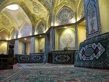 Inre sikt av Sultan Amir Ahmad Bathhouse, Kashan Iran Arkivbild